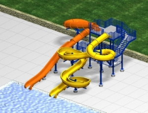 RAINBOW BEND TUBE TO OPEN FLUME SLIDES