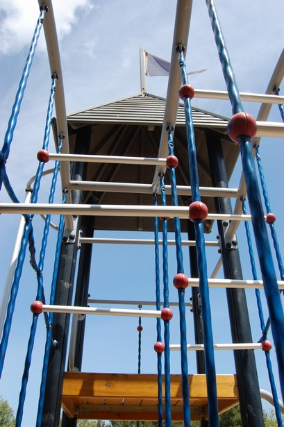 Contemporary and Non-Traditional Overhead Climbing Features Intrigue Park Visitors and Add Uniquness to a Playground.