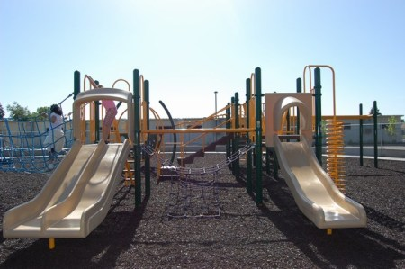 Dueling Slides at Shasta Park