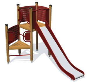 The Dio's purpose is to offer one cool slide.