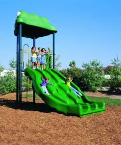 The Free-Standing Flippo Slide with a Ladder increases accessibility greatly.