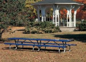 The Heavy Duty Park Table can provide a place for a huge group to sit.