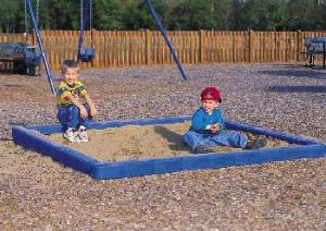 For those smaller kids, a sandbox opens up the imagination.