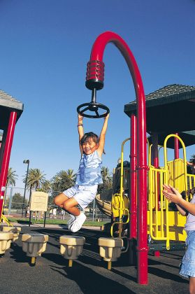 The Hang-A-Round can fit almost anywhere to provide a unique playground experience.