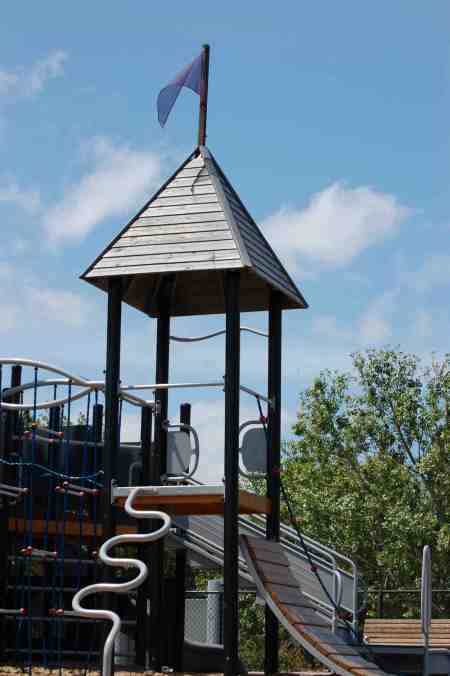 Playgrounds now include traditional architecture that is also affordable.